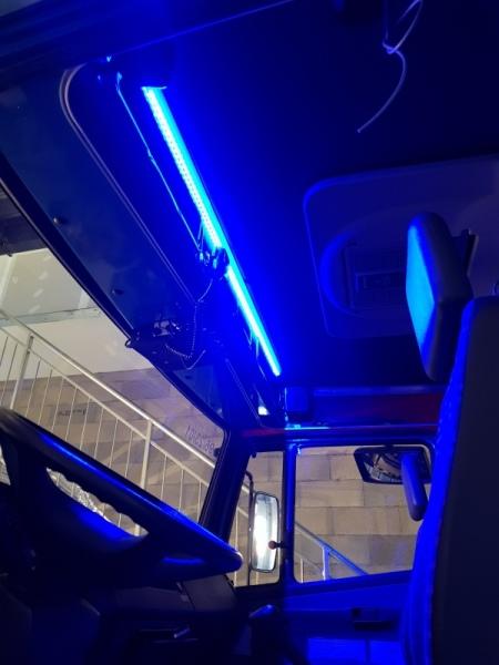 Beleuchtung Kabine / Eclairage cabine